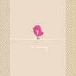 Vogel pink mit Krücke & Gipsbein Beige Punkte