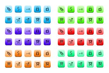 Plaquette d'icônes internet variées