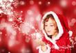 Kleine Miss Santa mit Sternenstaub