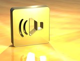 3D Voice Gold Sign poster