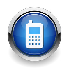 cell-phone web blue button