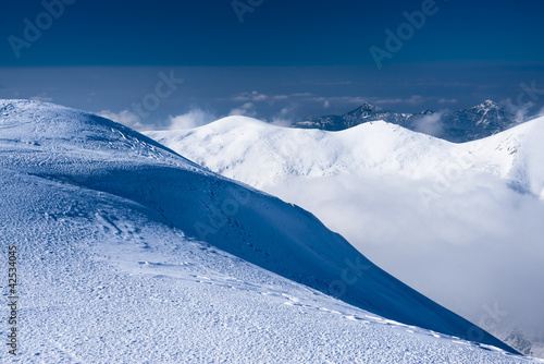 winter mountains scenery