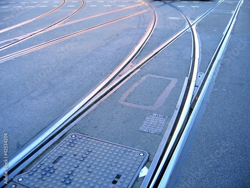 Straßenbahn-Schienen