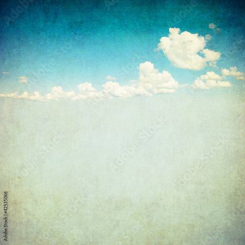 canvas print picture retro image of cloudy sky
