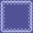 frame with decorative elements on blue background