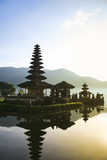 Fototapety balinese lake temple dawn bali indonesia
