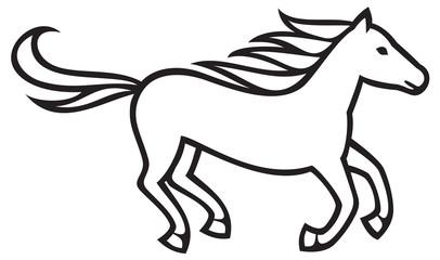 running horse