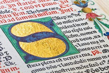 fragments of the Latin missal