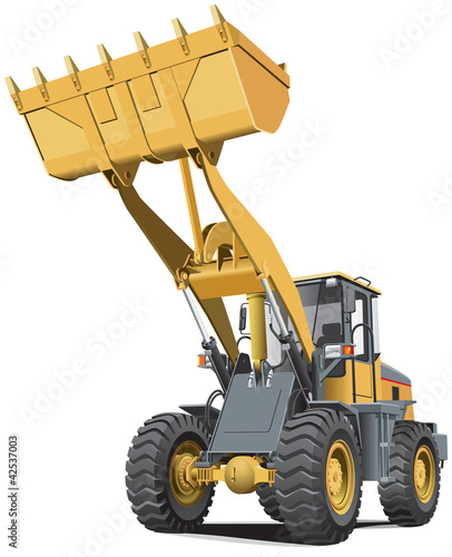 light-brown front end loader