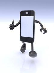 smart phone man character