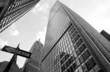 Wolkenkratzer, Manhattan 7 schwarzweiss