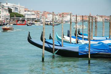 Gondole in Canal Grande, Venezia, Italia