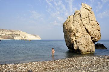 Cipro. Cyprus. Spiaggia di Petra Tou Romiou