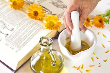 Herstellung von Ringelblumenöl