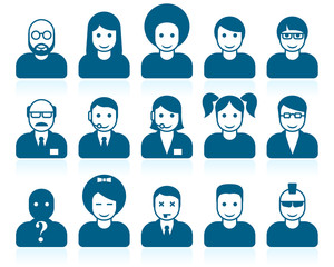 Simple people avatars