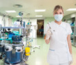 Nurse with syringe in a hospital
