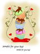 Muffins, Cupcakes Floral mit Schleife