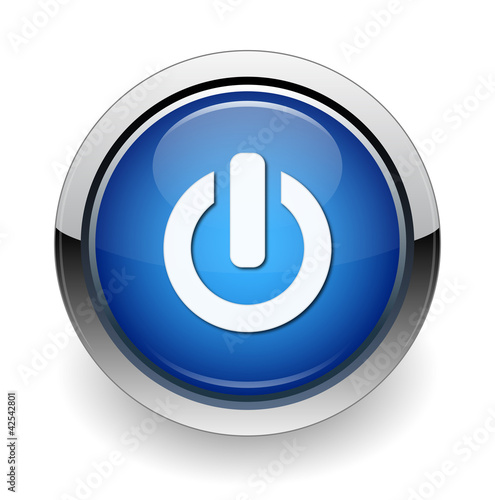 on/off web blue button