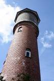 Old water tower on the island Bornholm in Denmark