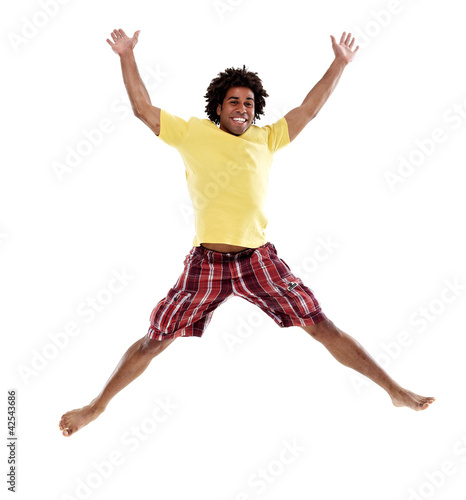 Joyful young man, jumping 2