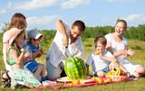 Fototapety family picnic