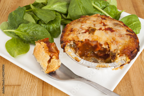 Chili Pie with Salad