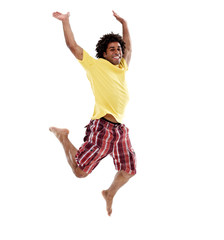 Joyful young man, jumping 8