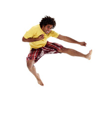 Joyful young man, jumping 9