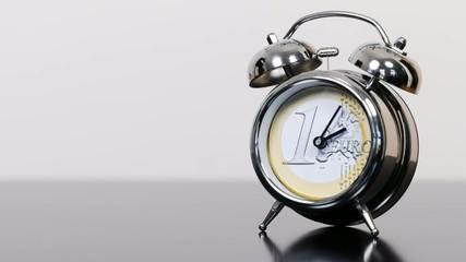 tickende Uhr des Euro