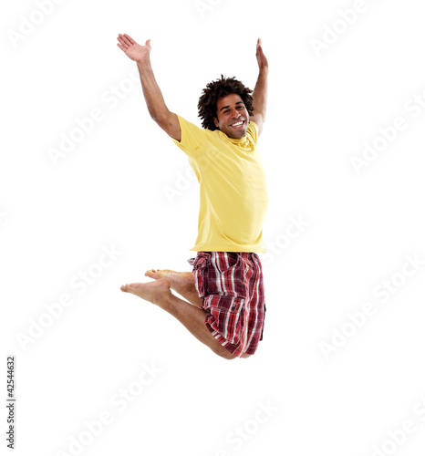 Joyful young man, jumping 1