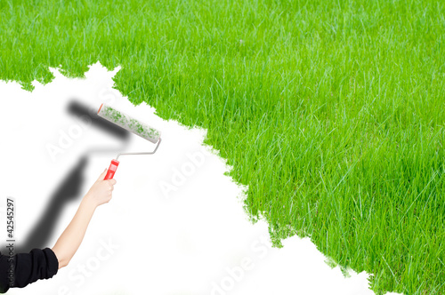 paint the grass