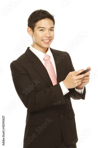 Businessman Texting
