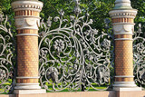 Forged fence of the Mikhailovsky garden, St. Petersburg