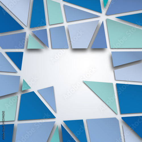 Messy Abstract Blue Background # Vector