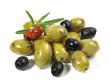 Oliven - grün und schwarz
