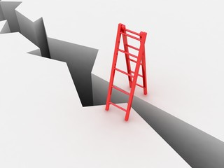 Ladder and abyss