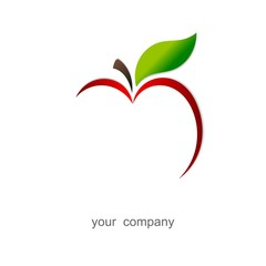 Red apple. Logo