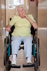 Retired Woman on Wheelchair