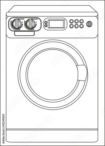 Illustration of a washing machine