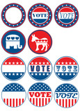 Set of 11 election campaign badges poster