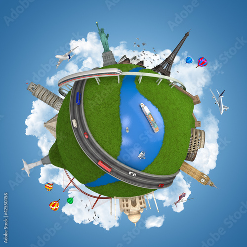 world travel globe concept