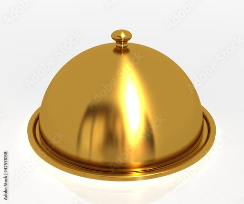 Gold catering tray