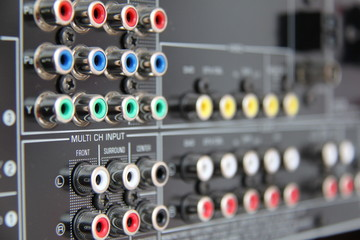connectors on the AV receiver