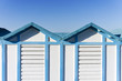 beach hut in Rimini, Italy