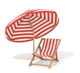 Sunbed and sun umbrella
