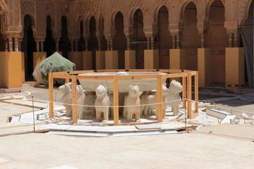 Alhambra, Patiodei Leoni, restauro
