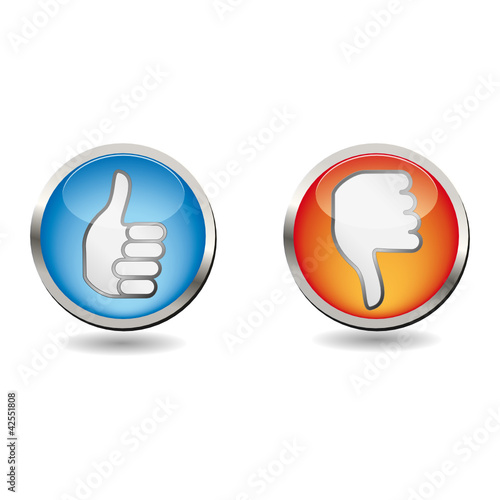 Like and Dislike Buttons