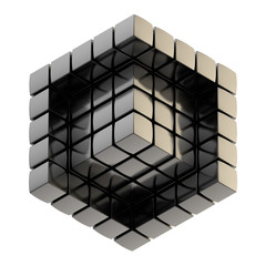 Abstract background as cube structure