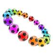 Circle frame of football soccer balls