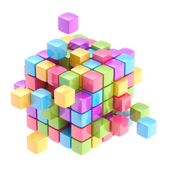 Colorful cube abstract background